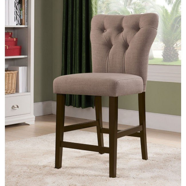 Effie Counter Height Chair (Light Brown) (Set of 2)