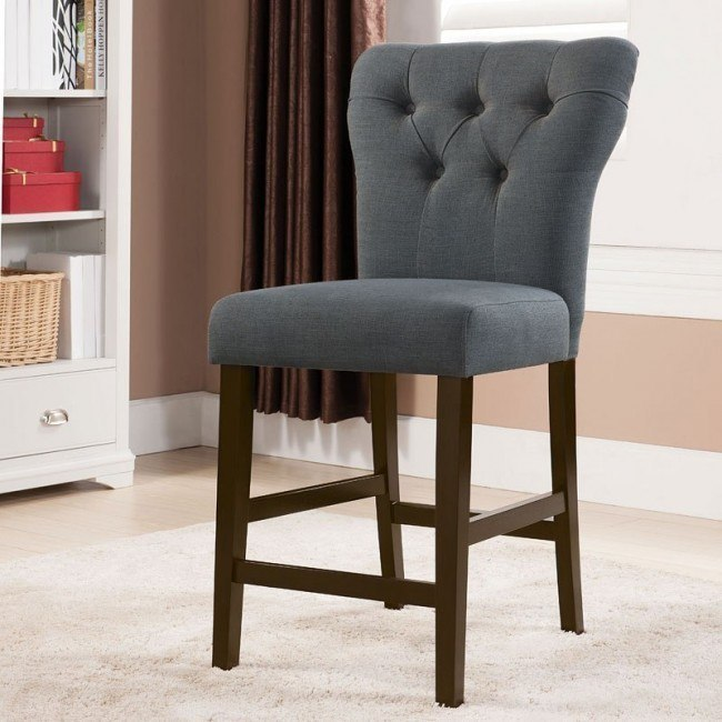 Effie Counter Height Chair (Gray) (Set of 2)