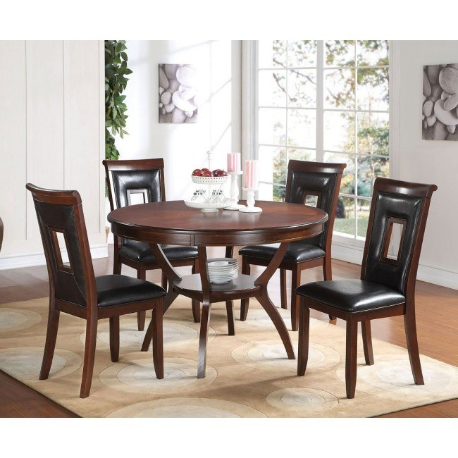 Oswell 5-Piece Dining Room Set w/ Black Chairs
