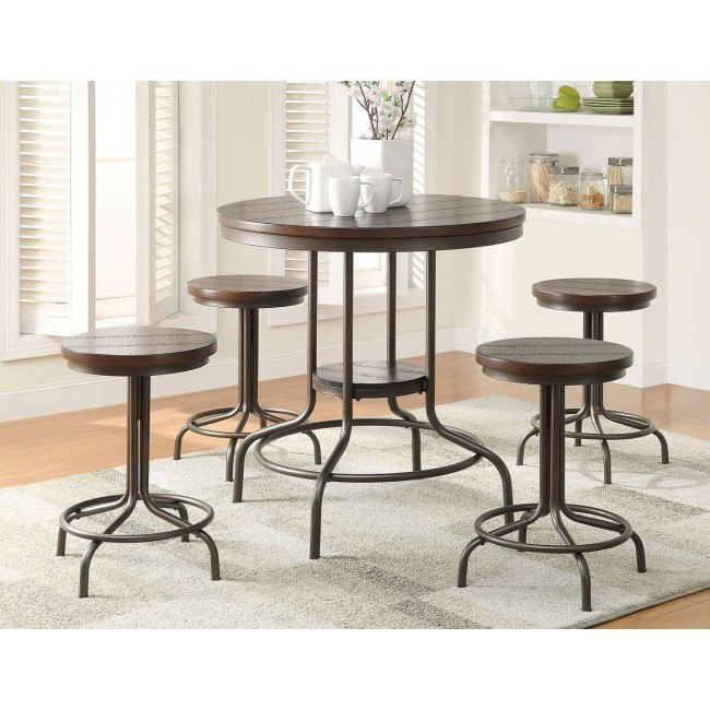 Burney 5-Piece Counter Height Dining Set