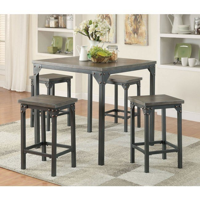 Percie 5-Piece Counter Height Dining Set