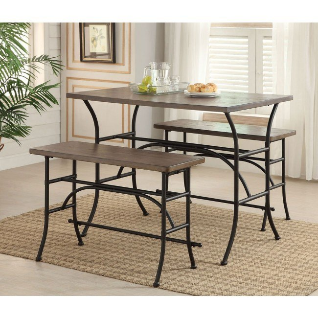 Domingo 3-Piece Counter Height Dining Set