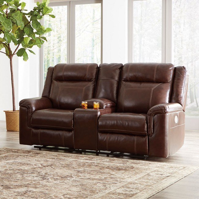 Astonishing Wyline Coffee Power Reclining Loveseat W Adjustable Headrest Ibusinesslaw Wood Chair Design Ideas Ibusinesslaworg