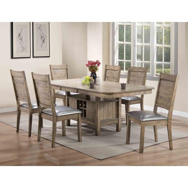 Ramona Rectangular Dining Set (Rustic Oak)