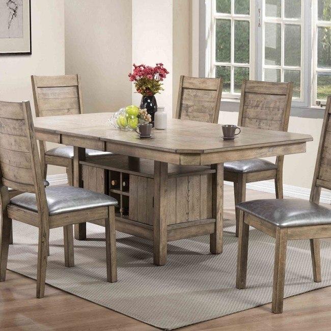 Ramona Rectangular Dining Table (Rustic Oak)