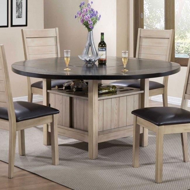 Ramona Round Dining Table (Antique Beige)
