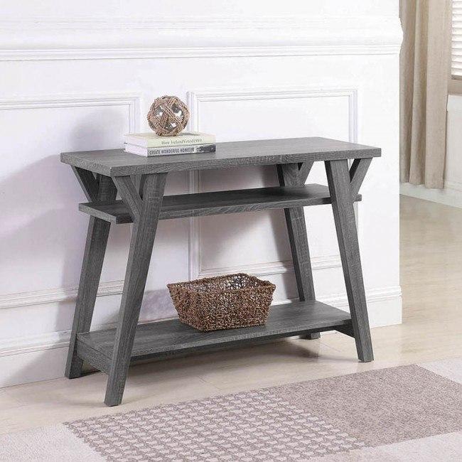 Awe Inspiring Distressed Grey Sofa Table Short Links Chair Design For Home Short Linksinfo
