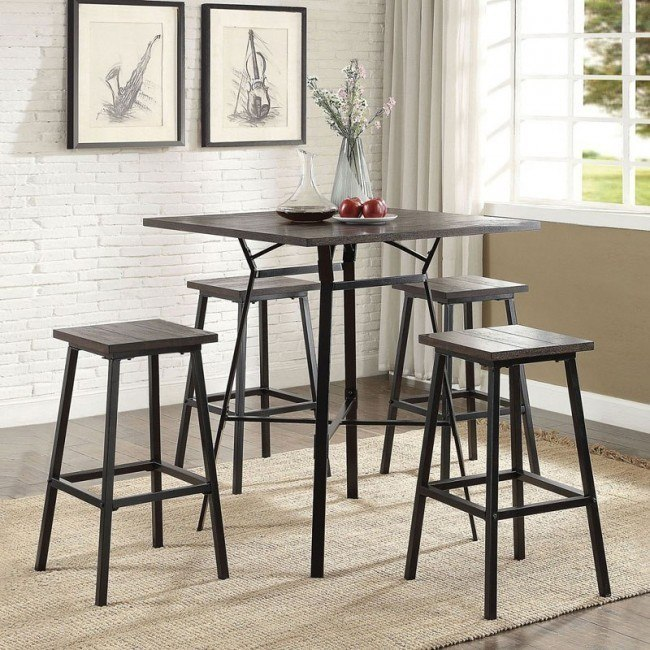 Dora 5-Piece Bar Set (Weathered Dark Oak)