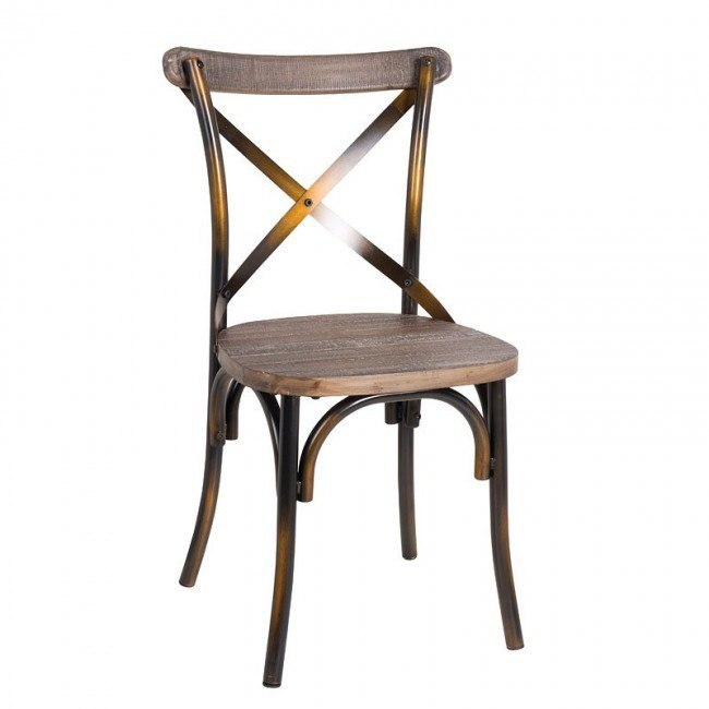 Zaire Side Chair (Antique Copper)
