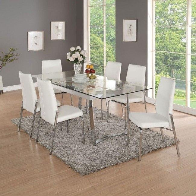 Osias Dining Room Set (Chrome)