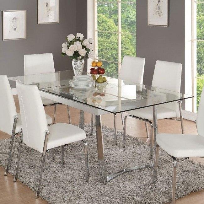 Osias Dining Table (Chrome)