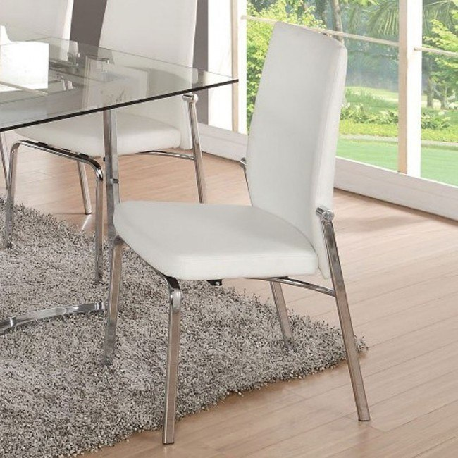 Osias Side Chair (White) (Set of 2)