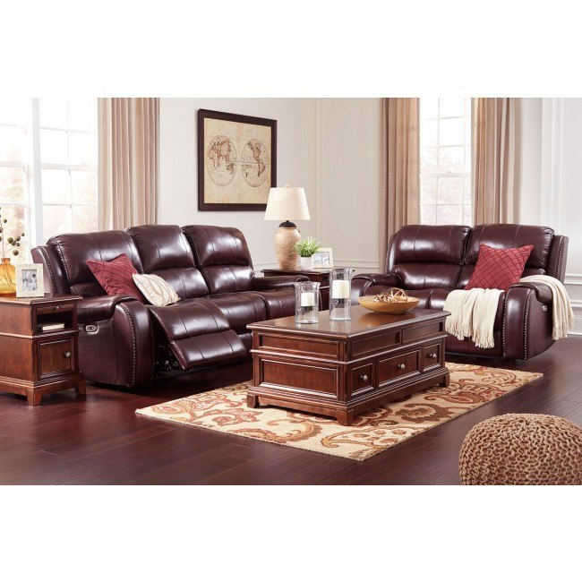 Gilmanton Burgundy Power Reclining Living Room Set