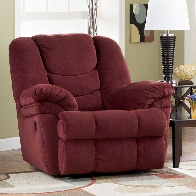 Galaxy Burgundy Rocker Recliner By Signature Design By Ashley Furniturepick