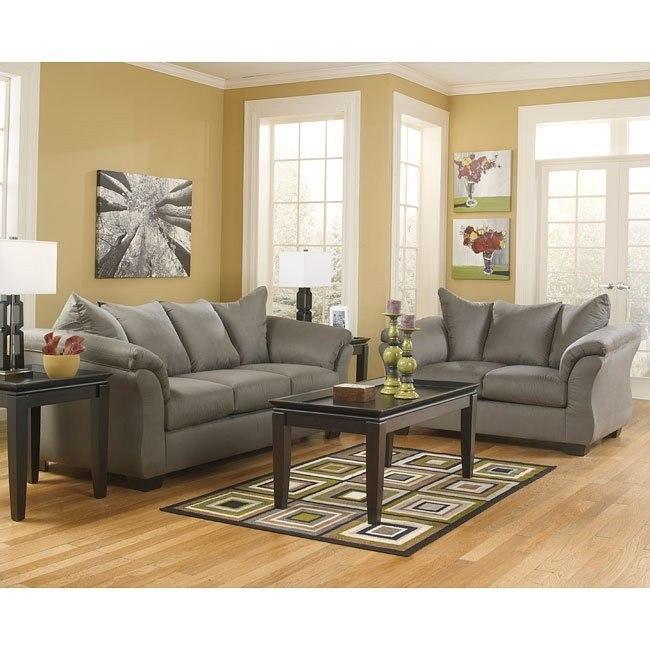 Darcy Cobblestone Living Room Set