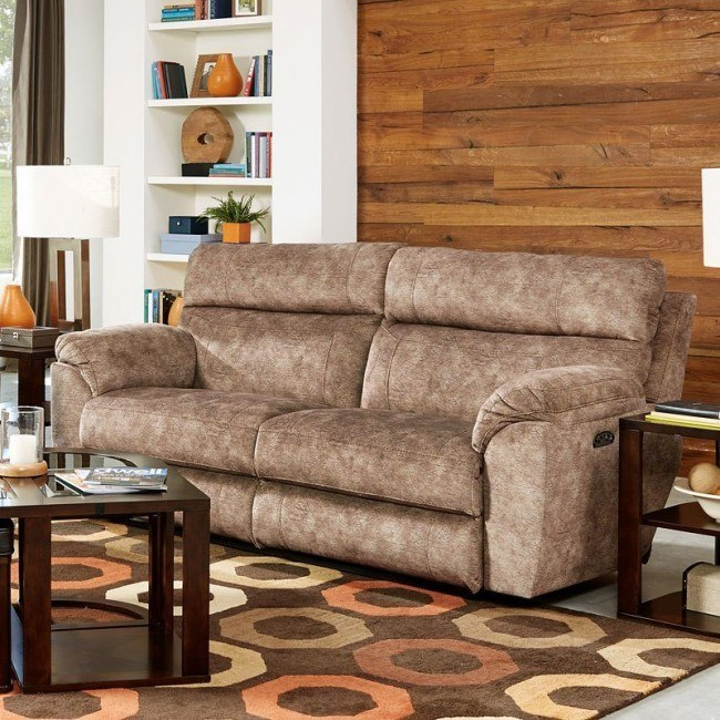 Sedona Power Lay Flat Reclining Sofa w/ Power Headrest and Lumbar (Mesa)