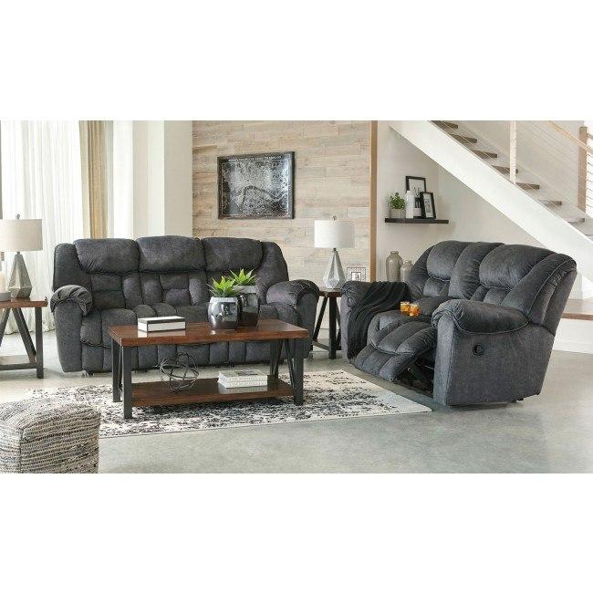 Capehorn Granite Reclining Living Room Set