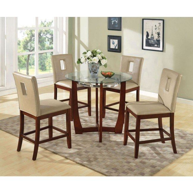 Baldwin Counter Height Dining Set w/ Britney Cut-Out Chairs