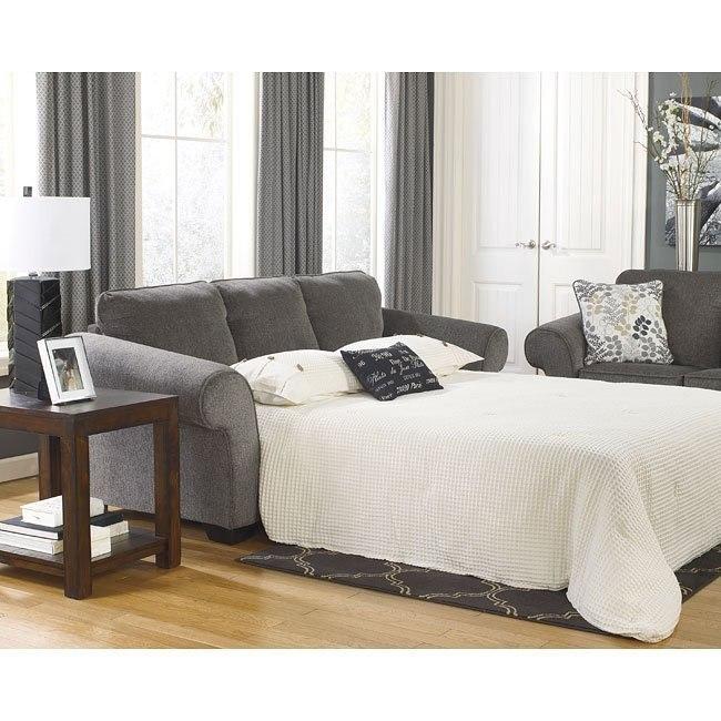 Makonnen Charcoal Queen Sofa Sleeper By Signature Design