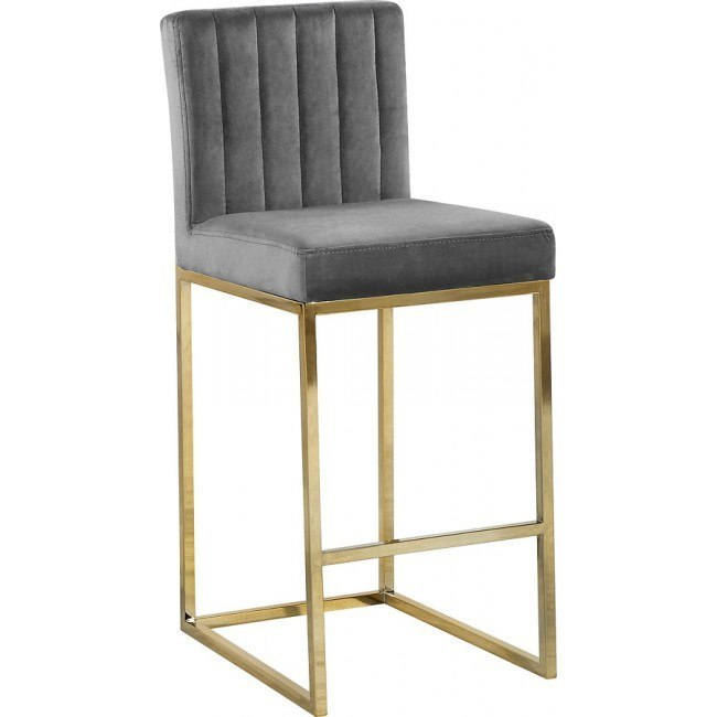 Admirable Giselle Counter Height Stool Grey Gold Gamerscity Chair Design For Home Gamerscityorg