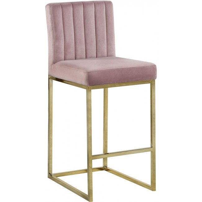 giselle counter height stool pink goldmeridian