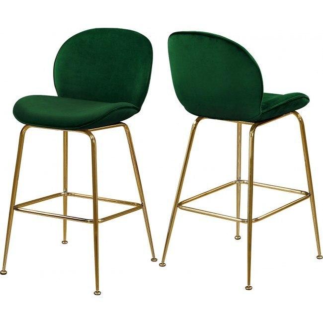 Paris Counter Height Stool (Green/ Gold) (Set of 2)