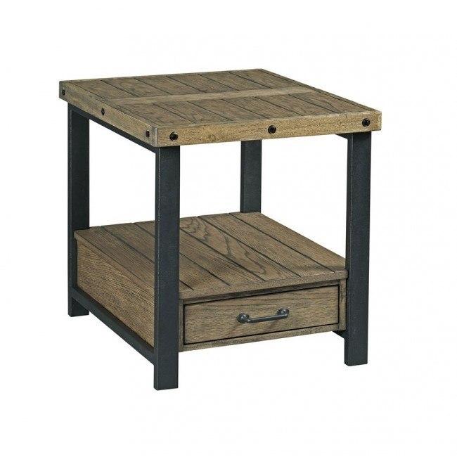 Workbench Rectangular Drawer End Table