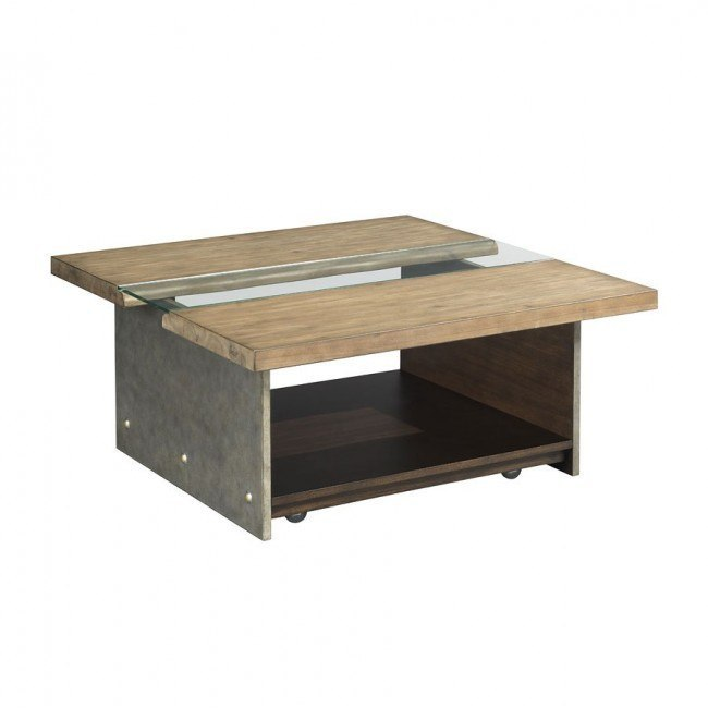 Modern Origins Live Edge Square Cocktail Table