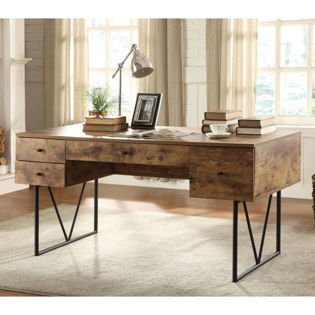Industrial look Desk w/ 4 Drawers