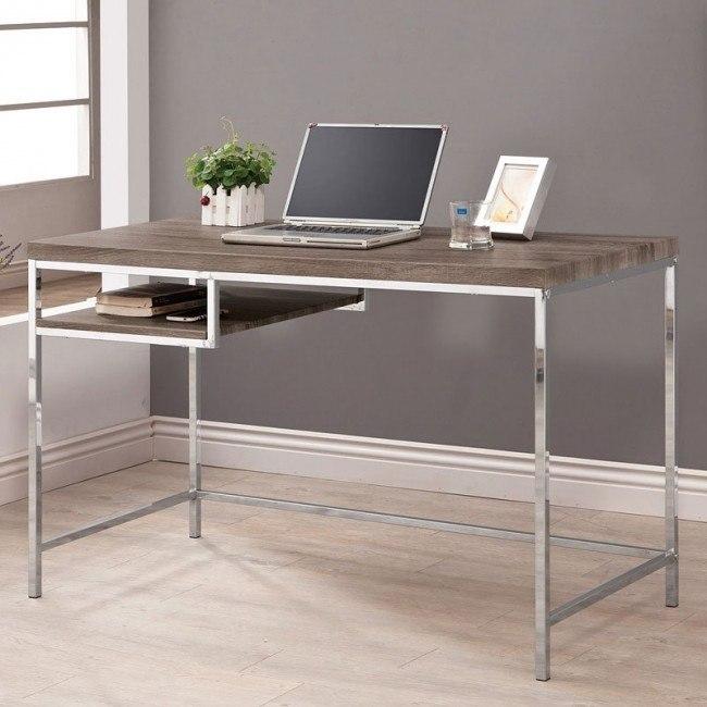 Weathered Grey Computer Desk w/ Shelf