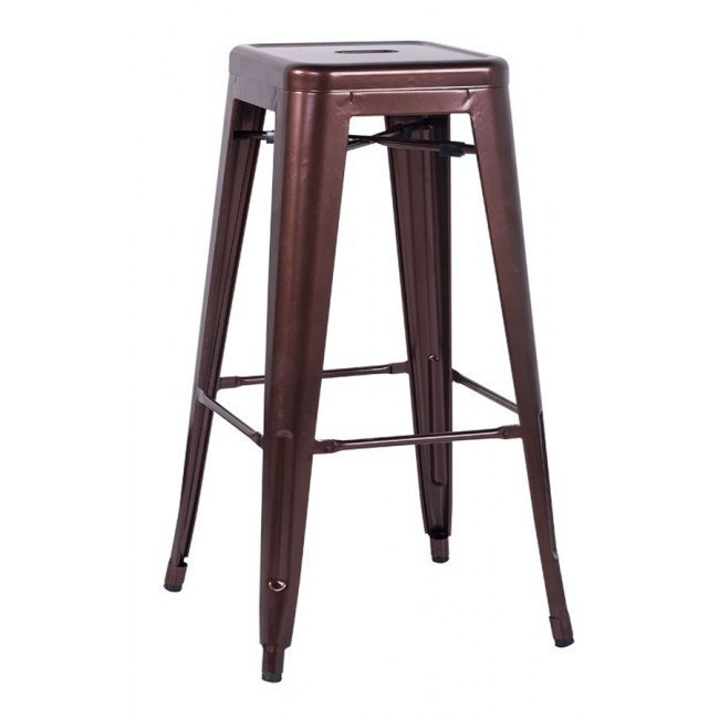 Alfresco Galvanized Steel Bar Stool (Red Copper) (Set of 4)