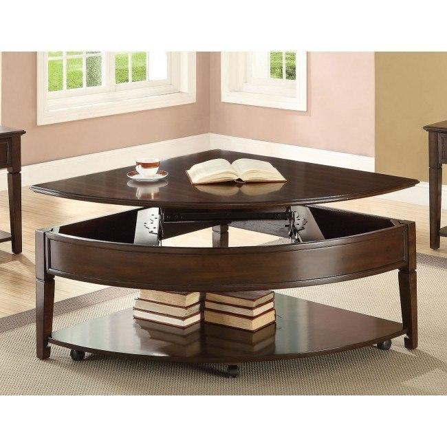 Malachi Wedge Coffee Table w/ Lift Top