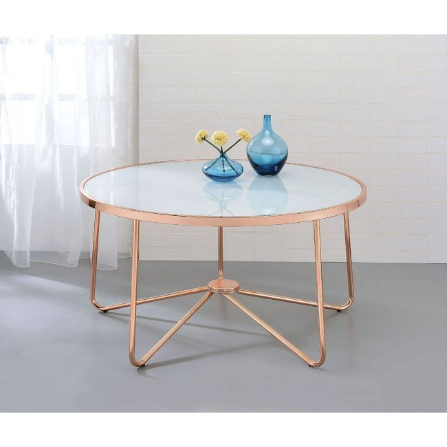 Alivia Occasional Table Set (Frosted Glass)
