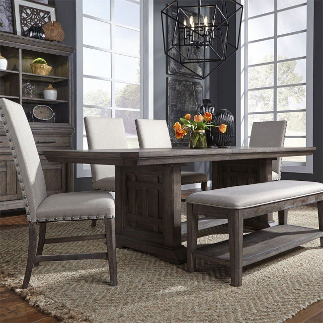 Dining Room Table With Upholstered Bench 2