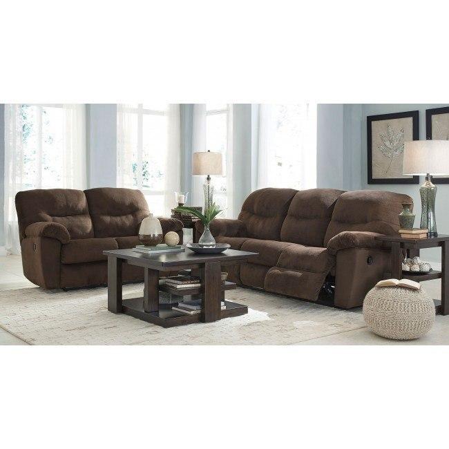 Slidell Chocolate Reclining Living Room Set