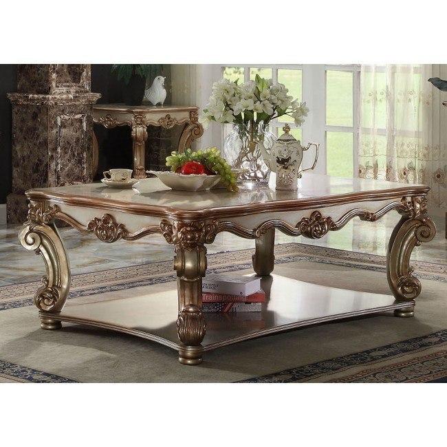 Vendome Coffee Table (Gold Patina)