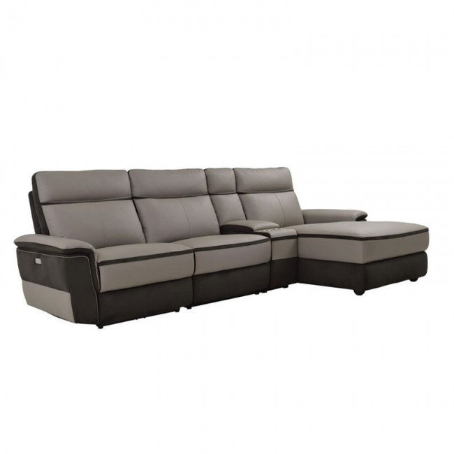 Swell Laertes Right Chaise Power Reclining Sofa W Console Bralicious Painted Fabric Chair Ideas Braliciousco