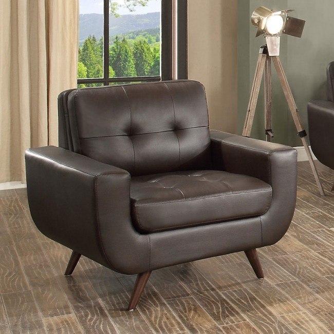 Deryn Chair (Dark Brown)