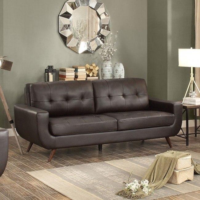 Deryn Sofa (Dark Brown)