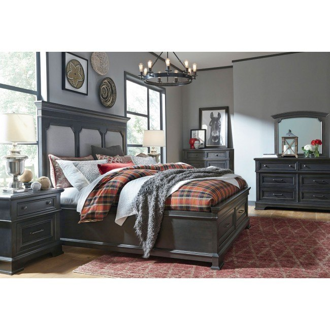 Townsend Upholstered Storage Bedroom Set