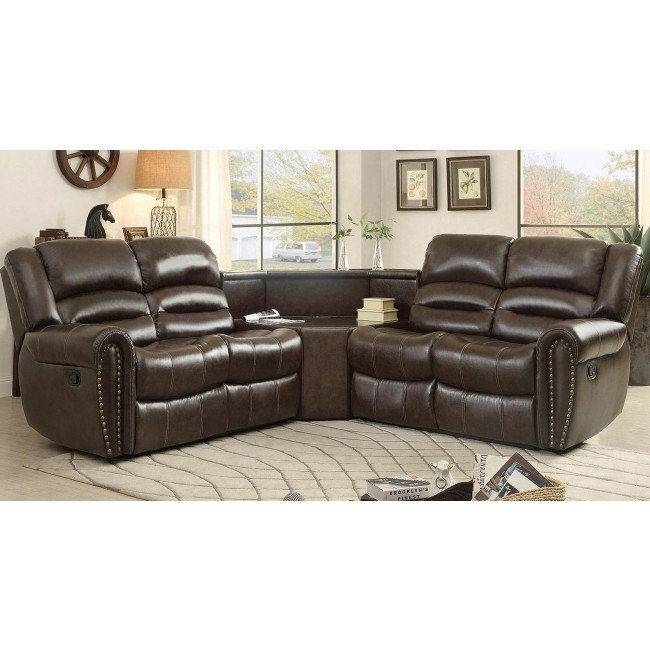 Palmyra Modular Reclining Sectional W Table Wedge