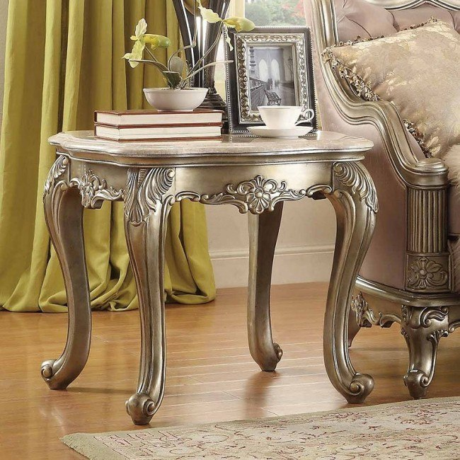 Fiorella Marble Top End Table