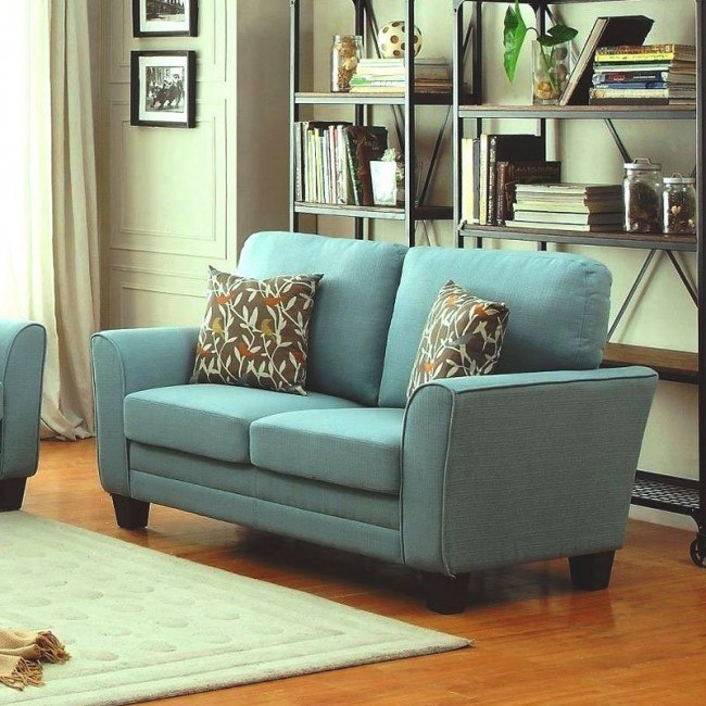 Adair Loveseat (Teal)