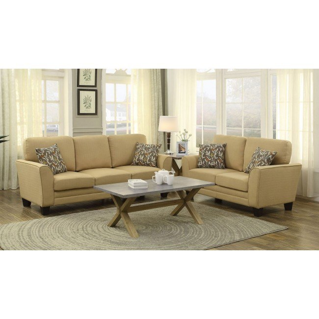 Adair Living Room Set (Yellow)