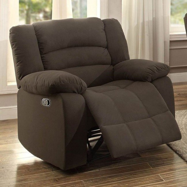 Greenville Reclining Chair (Chocolate)