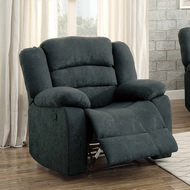 Greenville Reclining Chair (Blue Grey)