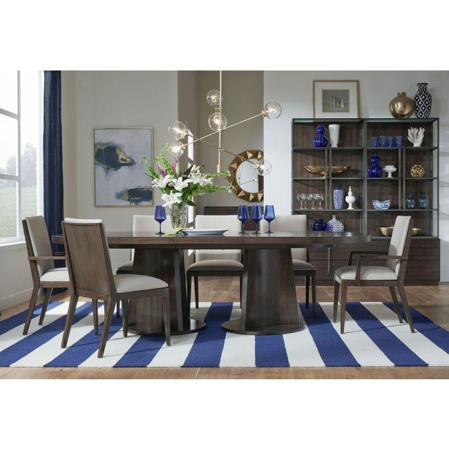 Paldao Oval Dining Room Set w/ Upholstered Chairs