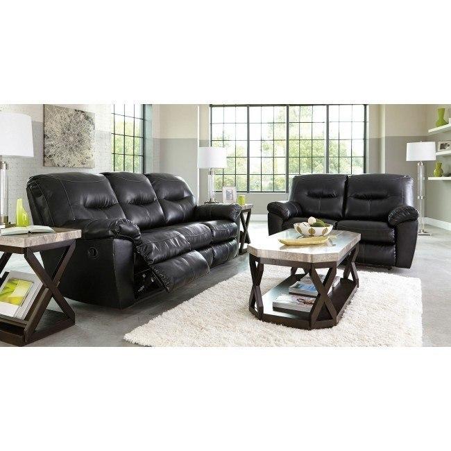 Kilzer Black DuraBlend Reclining Living Room Set