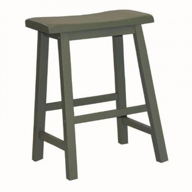Green Counter Height Saddle Stool (Set of 2)