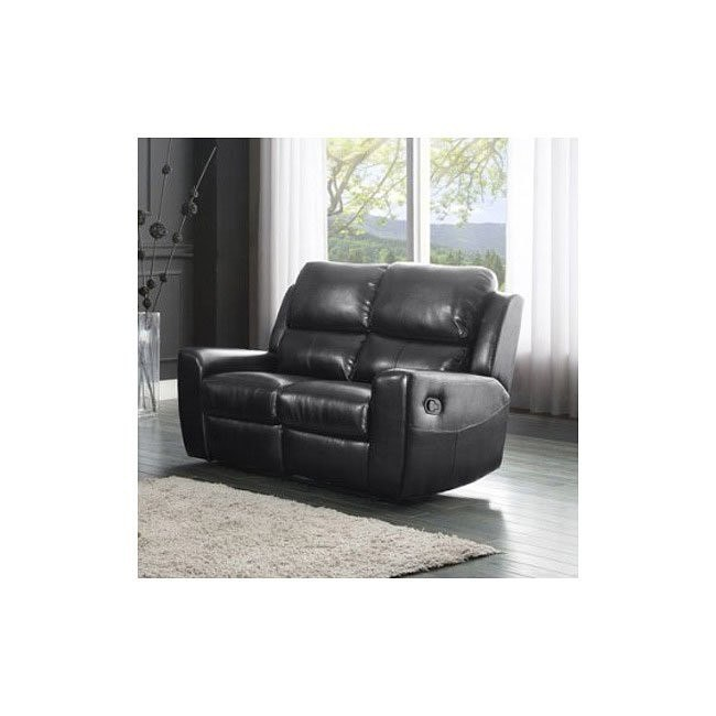 Gannet Double Reclining Loveseat (Black)